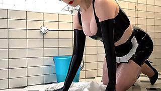 Maid On Her Knees