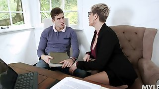 Young Handsome Man Is Fucked By Hottest Cougar Lawyer Ryan Keely