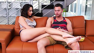 Naughty Babe Ashley Adams Has Sex With Her Handsome Big Stepbrother