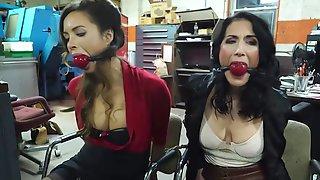 L A B - Two Sluts In A Kinky Bondage Scene In The