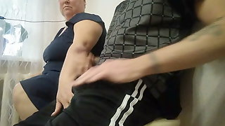 Jerking Off My Cock In The Office And Helping Me To Cum