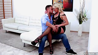 Czech Cougar Brittany Bardot Is Making Love With Her New Lover Who Prefers Anal Sex