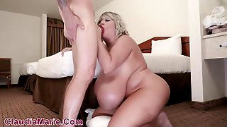 Blond Aged With Huge Milk Jugs Is Getting A Weenie Up Her Butt And Enjoying It