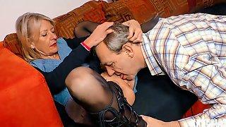 Grannies Enjoy Wild Sex With Two Men
