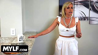 Pretty Blondie MILF Wants To Get Pregnant So Her Husband Brings Home A Muscular Boy To Creampie Her