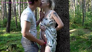 A Preggy Hotty With An Egg Gets A Creampie In A Unfathomable Forest Whilst Picking Mushrooms