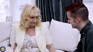 Granny And Mom Seduce Lucky Boys