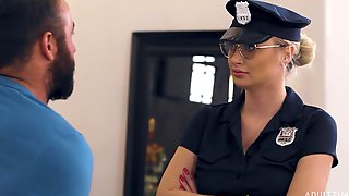 Chad White Fucks Super Sexy Police Woman In Uniform And Feeds Her With Sperm