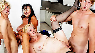 Cougars Give Twinks A Piece Of Their Pussy