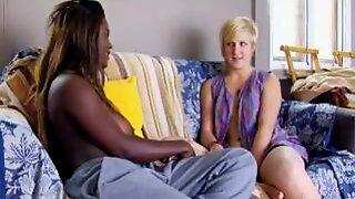 Markina And Col Interracial Lesbo Masturbation 1 Of  Two