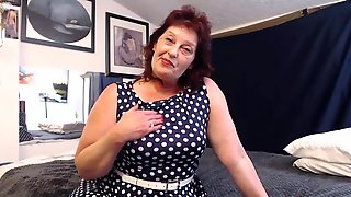 Large Titted Granny Is Widening Her Legs Wide Open And Groaning Whilst Rubbing Her Twat