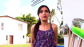 Slim Veronica Marin And Hard Sex For Cash