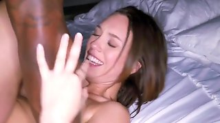 BLACKEDRAW Smoking Swinger Wife Tries Black Cock - Jade Nile