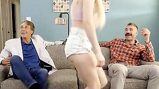Two Blonde Girls And Two Horny Guys Are Having A Foursome