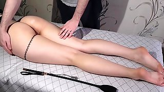 Wife Got A Powerful Throbbing Climax From Flogging Cunt, Booty And Feet (Bastinado)
