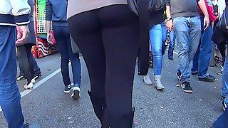 Big Ass Teen In Black Spandex