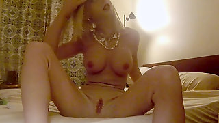 Fake Rubber Woman Masturbate With Pink Hitachi - Miss Eva Mae - Full Girl Body Silicone Suit M2F