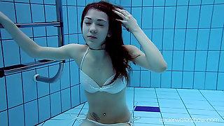 White Bathing Suit With Tats Babe Roxalana Cheh Underwater