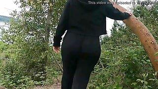 Huge Booty Mama Public Wedgie Walk