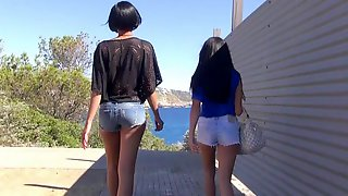 German Teen Lesbians Try First Time Stra