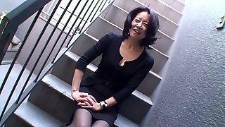 Japanese Married Muff With Hairy Cunt Playing Alone - Junko Sakashita
