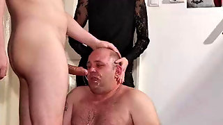 Teenage Emo Domina Help Her Daddy To Facefuck Marionette Pt1 HD