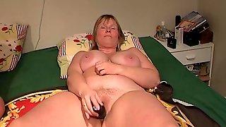Swedish-dildoslut With A Small Black Dildo