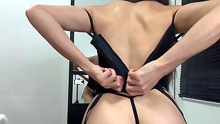 Mandy Tastey Attempting On Undergarments