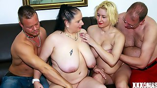 Interracial Double Penetration With A French Girl