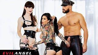 EvilAngel - Joanna Angel DPd By T-Babe Natalie Mars & Ramon Nomar