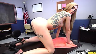 Deep Office Missionary With Cream On Tits In The End