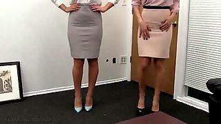 Two Amateur Babes Are Having An FFM Threesome On Casting