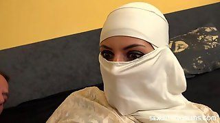 Good Babe In A White Hijab Tiny Tyna Screwed In The Missionary Pose