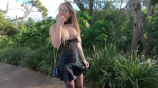 SecretCrush4K - Risky Flashing, Anal, Squirting & Fellatio In Public Park