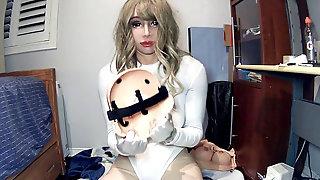 Rubber Doll Jill P2! Female Mask Chick Nancy Rona Masks In Dame Doll Mask Jill!
