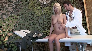 Excellent Nude Sex On The Table With Her Gyno Doctor