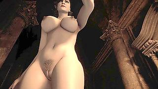 Resident Evil Village Girl Dimitrescu - Window Voyeurism The Bottom To Detect Bushy Or Shaved - POV