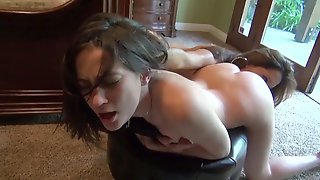Rough Hairy MILF Punishes Young Lesbian Teen - Old And Young
