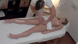Busty Babe Fucked During Massage
