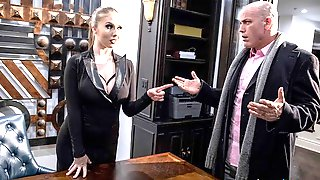 Godlike Sex In The Office With A Glamorous Sex Doll Lena Paul