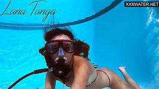Hungarian Pornstar Lana Tanga Orgasming Underwater