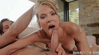 Insatiable Blonde Mature Pleasuring Lucas On The Couch