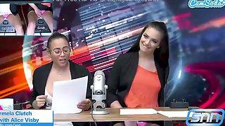Hawt Body News Anchors Masturbate On Air