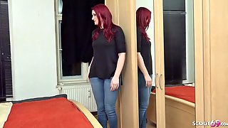 GERMAN SCOUT - Redhead College Teen Melina Talk To Bang Cast