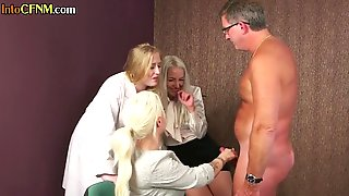 Medical Femdoms Blow Sub In Cfnm Group