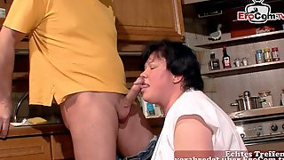 German Mature Housewife Fuck In Kitchen