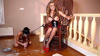 Dominant MILF Plays With The Skinny Slave Girl In Ruthless Femdom
