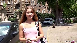 GERMAN SCOUT - CUTE TEEN MARY TALK TO BANG AT STREET CASTING