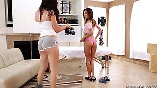 Kinky Asian Pornstar Alina Li Gets Fucked Balls Deep Next To Holly