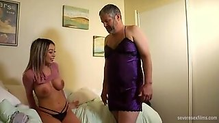 Blonde Mistress Kat Dior Puts On A Strap-on And Fucks That Man